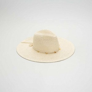Шляпа-федора - бежевый