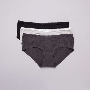 Комплект из 3 шортиков для беременных - черный