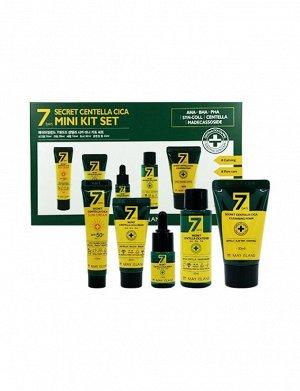 7 Days Secret Centella Mini Kit Set Набор успокаивающих средств с центеллой, алоэ и ромашкой