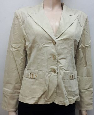 Куртка джинсовая женская бежевая