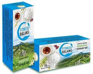 Напиток чайный Fitness Balans (лемонграсс и чёрный чай) 20 ф/п по 1,8 гр.