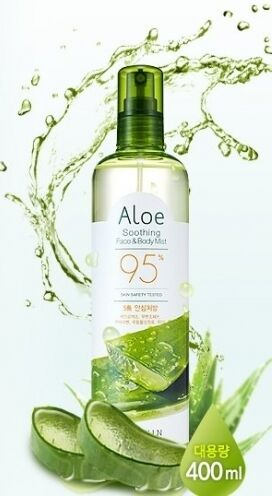 Успокаивающий спрей с 95% алоэ вера для лица и тела Aloe Soothing Face & Body Mist 95%