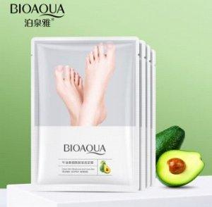 Восстанавливающая маска-носочки для ног с маслом авокадо BIOAQUA, 35 гр (1 пара)