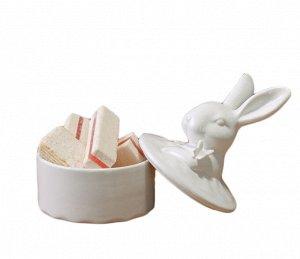 Шкатулка Белый кролик 17,5см керамика