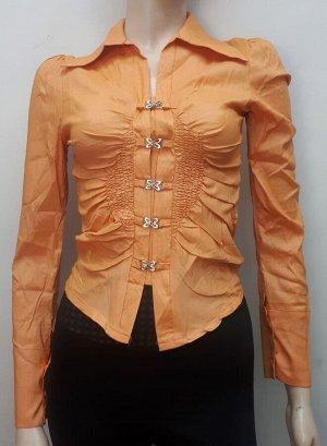 Блуза женская оранжевая