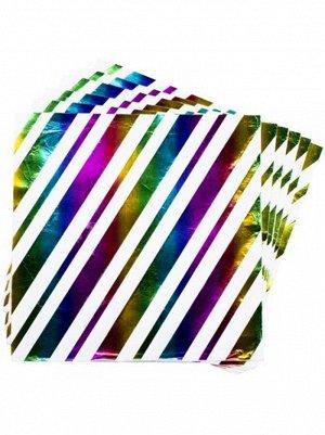 Салфетка Фольга радуга 33 х 33 см набор 6 шт