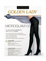 Micro Glam 100 (Golden Lady)/5/50/ плотные колготки из мягкой микрофибры , с ластовицей