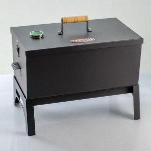 "Коптильня двухъярусная ""FIREWOOD"" с подставкой и датчиком температуры, сталь 1,5мм, 50х30х40"