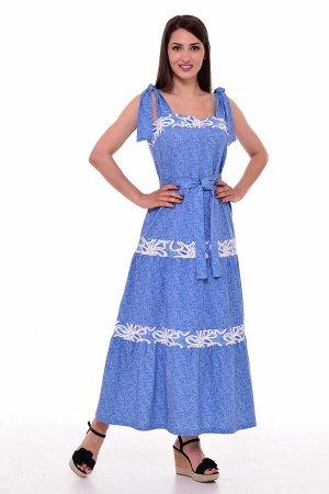 Сарафан женский 4-086б (голубой)