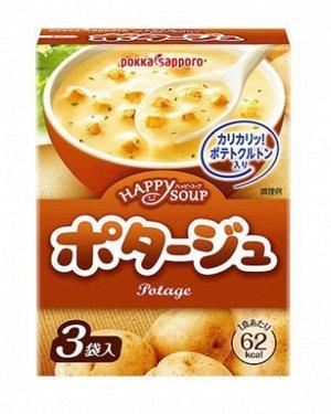 Картофельный суп-пюре pokka sapporo (3 порции), япония, 46,5 г,