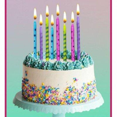 Натуральная косметика и масла — Свечи для торта