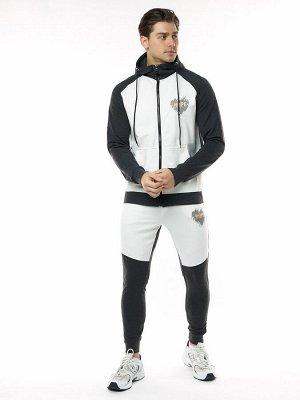 Спортивный костюм трикотажный темно-серого цвета 9150TC