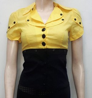 Блуза женская чёрно-жёлтая