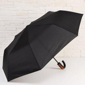 Зонт полуавтоматический «Strong», 3 сложения, 8 спиц, R = 48 см, цвет чёрный 5573115