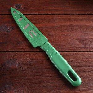 Нож туристический, в ножнах, лезвие 10 см, цвет микс