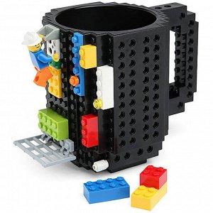 Лего кружка (черная),350мл