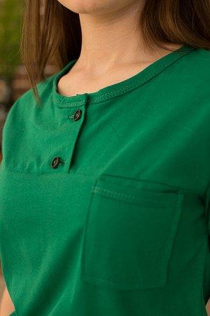Футболка Количество в упаковке: 1; Артикул: ЛЕТ-м110з; Цвет: Зелёный; Ткань: Кулирка; Состав: 100% Хлопок; Цвет: Зелёный Базовая футболка , универсальная,комфортная,приятная к телу.Без рисунка,одното