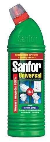 """SANFOR Universal 10 в1 Гель д/разных поверхностей """"Летний дождь"""" 1 л."""