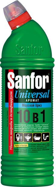"""SANFOR Universal 10 в1 Гель д/разных поверхностей """"Морской Бриз"""" 750 мл."""