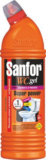 """SANFOR WC Гель д/туалетной комнаты """"Super power"""" 750 мл. /15/ арт. 9611"""