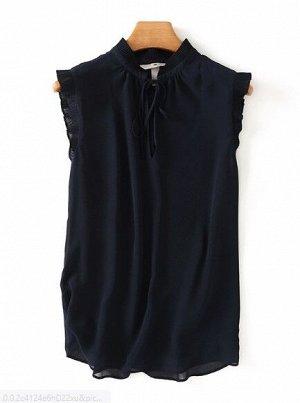 Женская блуза без рукавов, цвет темно-синий