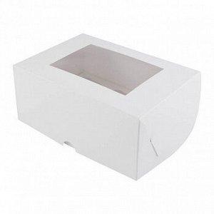 Коробка для 6 конфет/мини-капкейков, белая с окном