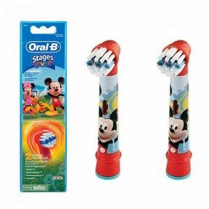 Орал-Би Насадки Д/Детской Электрической Зубной Щетки Stages Power Frozen Eb10 Микки маус(80279918) 2шт