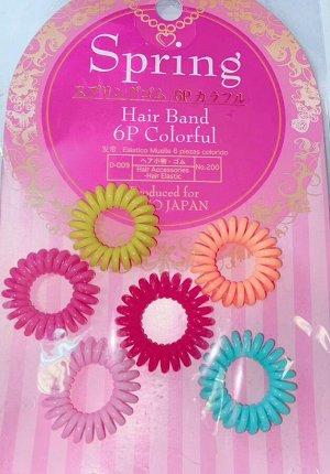 Резинка для волос силиконовая 6 шт.