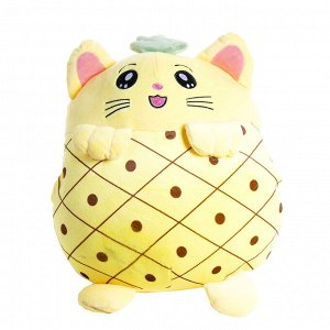 """Мягкая игрушка-подушка """"Кошка-ананас"""" / 35 см"""
