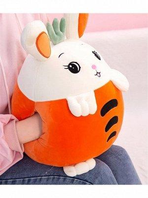 "Мягкая игрушка-подушка ""Зайчик-морковка"" / 35 см"