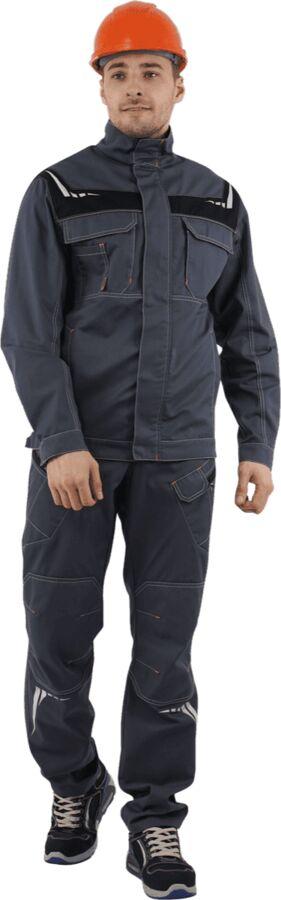 Куртка ПЕРФЕКТ летняя, серый-черный