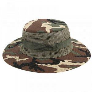 Шляпа Размер 56-60 Шляпа рыбака защищает голову, лицо и шею от яркого солнца. К тому же такая шляпа незаменима в дождь. Универсальный аксессуар можно носить на отдыхе, в лесу, на прогулке.