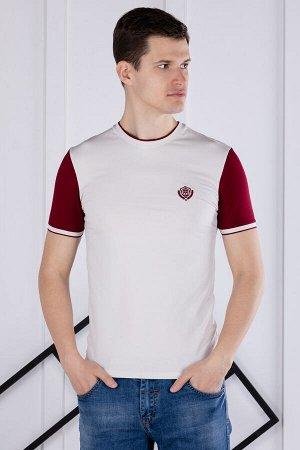 футболка              17.Y21-000051-BEJ-BORDO