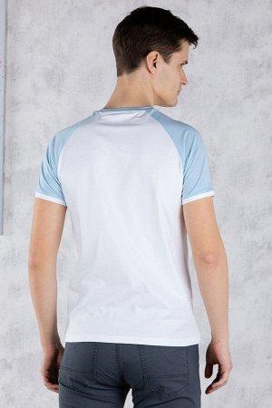 футболка              17.Y21-000050-BEYAZ-A.MAVI