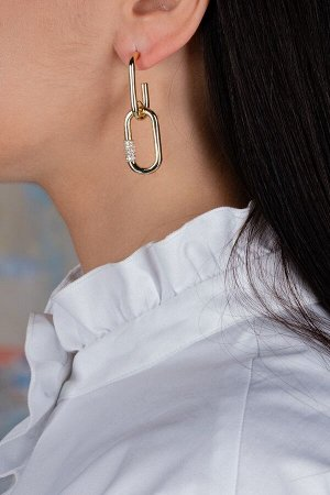 Серьги Модель: серьги. Цвет: золотой. Комплектация: серьги. Состав: металл.