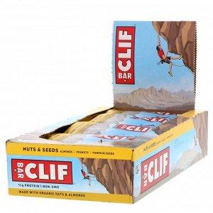 Clif Bar, Energy Bar, Nuts & Seeds, 12 Bars, 2.40 oz (68 g) Each