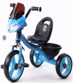 Велосипед 3-х колесный c  багажником,свет,звук,цв. в ассорт.