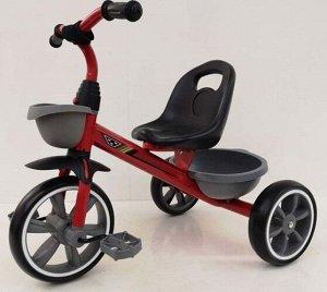 Велосипед 3-х колесный c корзинкой и багажником, цв. в ассорт.
