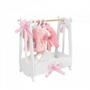 "Вешалка (шкаф) для кукольной одежды  ""Diamond princess"" цв.белый"