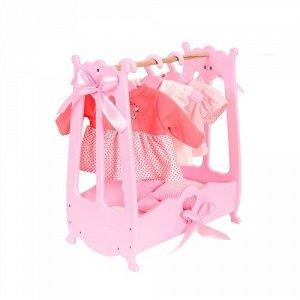 """Вешалка (шкаф) для кукольной одежды  """"Diamond princess"""" цв.розовый"""
