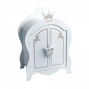 "Шкаф  для кукол  ""Shining Crown""  цв. белоснежный шелк ,42*10*52 см"