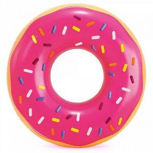 """Круг надувной """"Розовый пончик"""" 99*25 см , от 9 лет"""