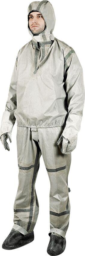 Костюм Л-1 Вид изделия: Комбинезоны химической защиты; Защита: Тип 3 от химикатов под давлением, Тип 4 от химикатов в виде спреев;  Вес единицы, кг: 2,7; ; Объем единицы, м3: 0,014 Ткань: Т-15 Количес