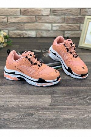 Женские кроссовки 6303-30 персиковые