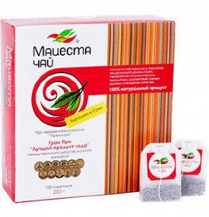 Чай черный классический Премиум «Мацеста чай» в фильтр-пакетах 100шт