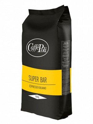 Кофе Super bar натуральный жареный в зернах 1 кг