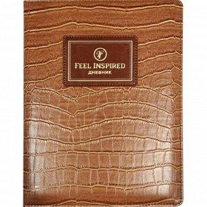 Дневник универсальный для 1-11 классов Croco Feel Inspired, твёрдая обложка, искусственная кожа, тиснение фольгой, ляссе, 48 листов