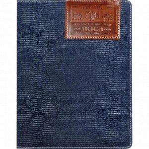 Дневник универсальный для 1-11 классов Dark blue jeans, твёрдая обложка, из джинсовой ткани,, термотиснение, ляссе, 48 листов