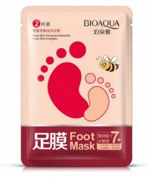 748955 BIOAQUA Питательная маска для ног с медом, 35 г
