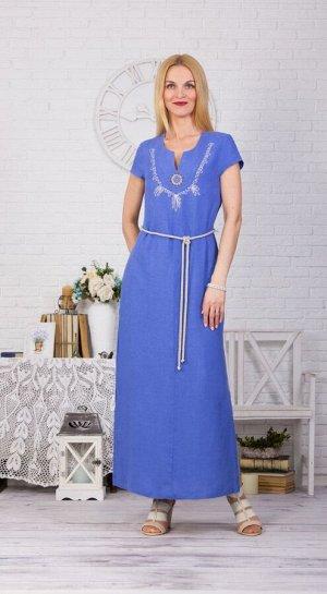 Платье с карманами модель 435/4 василек